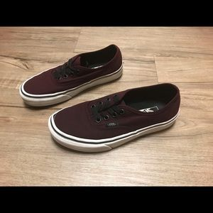 Vans Burgundy Shoes Women's Size 6 Men's Size 4.5